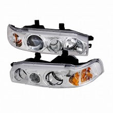 1990-1993 HONDA ACCORD PROJECTOR HEADLIGHTS (PAIR) CHROME (Spec-D Tuning)