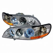 1998-2002 HONDA ACCORD HALO PROJECTOR HEADLIGHTS (PAIR) CHROME (Spec-D Tuning)