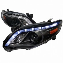 2011-2013  TOYOTA  COROLLA  PROJECTOR HEADLIGHTS (PAIR) BLACK HOUSING  (Spec-D Tuning)