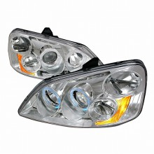 2001-2003 HONDA CIVIC HALO PROJECTOR HEADLIGHTS (PAIR) CHROME (Spec-D Tuning)