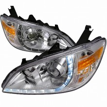 2004-2005 HONDA CIVIC R8 STYLE PROJECTOR HEADLIGHTS (PAIR) CHROME (Spec-D Tuning)
