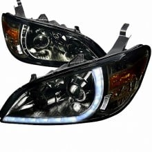 2004-2005 HONDA CIVIC R8 STYLE PROJECTOR HEADLIGHTS (PAIR) SMOKE (Spec-D Tuning)