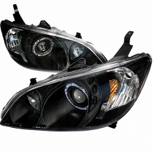 2004-2005 HONDA CIVIC HALO PROJECTOR HEADLIGHTS (PAIR) CHROME (Spec-D Tuning)