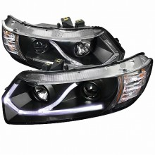 2006-2009 HONDA  CIVIC  LED PROJECTOR HEADLIGHTS (PAIR) BLACK HOUSING (Spec-D Tuning)