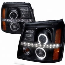 2002-2006 CADILLAC  ESCALADE PROJECTOR HEADLIGHTS (PAIR) BLACK HOUSING- NOT COMPATIBLE WITH FACTORY XENON (Spec-D Tuning)