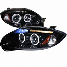 2006-2011 MITSUBISHI ECLIPSE  HALO PROJECTOR HEADLIGHTS (PAIR) SMOKE LENS GLOSS BLACK HOUSING  (Spec-D Tuning)