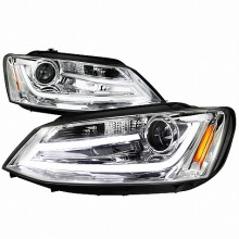 2011-2012 VOLKSWAGEN JETTA PROJECTOR HEADLIGHTS (PAIR) CHROME (Spec-D Tuning)