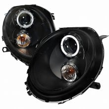 2007-2012 MINI COOPER  BLACK HOUSING PROJECTOR HEADLIGHTS (PAIR)  (Spec-D Tuning)
