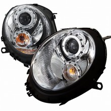 2007-2012 MINI COOPER  CHROME HOUSING PROJECTOR HEADLIGHTS (PAIR) (Spec-D Tuning)