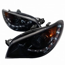 2006-2007 SUBARU  IMPREZA  SMOKED PROJECTOR HEADLIGHTS (PAIR) (Spec-D Tuning)