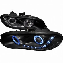 1998-2002 CHEVY CAMARO DUAL CCFL HALO PROJECTOR HEADLIGHTS (PAIR) BLACK (Spec-D Tuning)