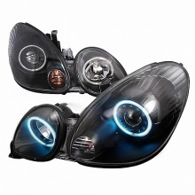 1998-2005 LEXUS GS300 CCFL HALO PROJECTOR HEADLIGHTS (PAIR) BLACK (Spec-D Tuning)