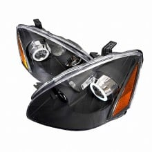 2002-2004 NISSAN ALTIMA CCFL HALO PROJECTOR HEADLIGHTS (PAIR) BLACK (Spec-D Tuning)