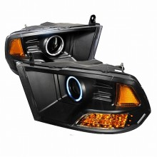 2006-2011 HONDA CIVIC CCFL HALO PROJECTOR HEADLIGHTS (PAIR) BLACK (Spec-D Tuning)