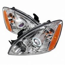 2004-2006 MITSUBISHI LANCER CCFL HALO PROJECTOR HEADLIGHTS (PAIR) CHROME (Spec-D Tuning)