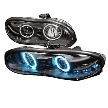 1998-2002 CHEVY CAMARO HALO PROJECTOR HEADLIGHTS (PAIR) BLACK (Spec-D Tuning)