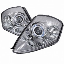2000-2005 MITSUBISHI ECLIPSE HALO PROJECTOR HEADLIGHTS (PAIR) CHROME (Spec-D Tuning)