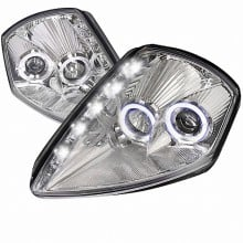 2000-2005 MITSUBISHI  ECLIPSE  LED HALO PROJECTOR HEADLIGHTS (PAIR) CHROME HOUSING  (Spec-D Tuning)