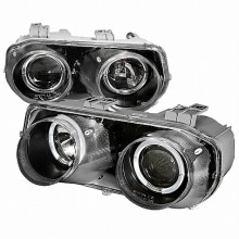 1994-1997 ACURA INTEGRA HALO PROJECTOR HEADLIGHTS (PAIR) BLACK (Spec-D Tuning)