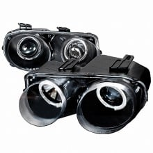 1998-2001 ACURA INTEGRA HALO PROJECTOR HEADLIGHTS (PAIR) BLACK (Spec-D Tuning)