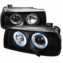1993-1998 VOLKSWAGEN JETTA PROJECTOR HEADLIGHTS (PAIR) BLACK (Spec-D Tuning)