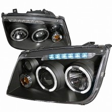 1999-2004 VOLKSWAGEN  JETTA  PROJECTOR HEADLIGHTS (PAIR) BLACK HOUSING  (Spec-D Tuning)