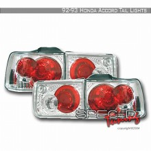 1992-1993 HONDA ACCORD ALTEZZA TAIL LIGHTS (PAIR) CHROME 4DR (Spec-D Tuning)