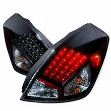 2007-2009 NISSAN ALTIMA LED TAIL LIGHTS (PAIR) BLACK 2DR (Spec-D Tuning)