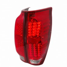 2002-2006 CHEVY AVALANCHE LED TAIL LIGHTS (PAIR) RED (Spec-D Tuning)