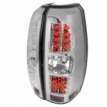 2007-2009 CHEVY  AVALANCHE  CHROME LED TAIL LIGHTS (PAIR)  (Spec-D Tuning)