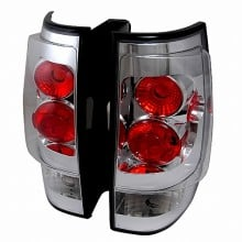 2007-2013 CHEVY AVALANCHE ALTEZZA TAIL LIGHTS (PAIR) CHROME (Spec-D Tuning)