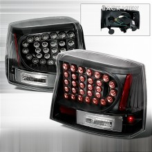 2005-2008 DODGE CHARGER LED TAIL LIGHTS (PAIR) BLACK (Spec-D Tuning)