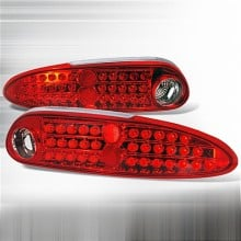 1993-2002 CHEVY CAMARO LED TAIL LIGHTS (PAIR) RED CHROME (Spec-D Tuning)