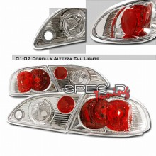 1998-2002 TOYOTA COROLLA ALTEZZA TAIL LIGHTS (PAIR) CHROME (Spec-D Tuning)