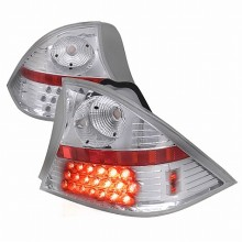 2001-2003 HONDA CIVIC LED TAIL LIGHTS (PAIR) CHROME 2 DOOR (Spec-D Tuning)