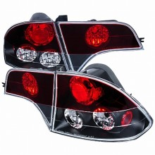 2006-2011 HONDA  CIVIC  TAIL LIGHTS (PAIR) 4 PIECE BLACK HOUSING RED TOP LENS  (Spec-D Tuning)