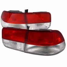1996-2000 HONDA  CIVIC TAIL LIGHTS (PAIR) RED CLEAR LENS COUPE MODEL  (Spec-D Tuning)