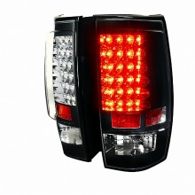 2007-2011 CHEVY  TAHOE  G2 LED TAIL LIGHTS (PAIR) BLACK (Spec-D Tuning)