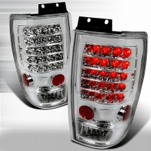 1997-2002 FORD EXPEDITION LED TAIL LIGHTS (PAIR) CHROME (Spec-D Tuning)