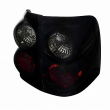 2002-2004 FORD  EXPLORER  EURO TAIL LIGHTS (PAIR) GLOSSY BLACK HOUSING WITH SMOKE LENS  (Spec-D Tuning)