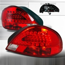 1999-2005 PONTIAC GRAND AM LED TAIL LIGHTS (PAIR) RED (Spec-D Tuning)