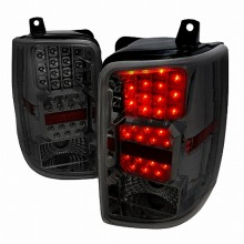 1993-1996 JEEP GRAND CHEROKEE LED TAIL LIGHTS (PAIR) CHROME W SMOKE LENS (Spec-D Tuning)