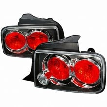 2005-2009 FORD MUSTANG ALTEZZA TAIL LIGHTS (PAIR) BLACK (Spec-D Tuning)