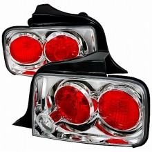 2005-2009 FORD MUSTANG ALTEZZA TAIL LIGHTS (PAIR) CHROME (Spec-D Tuning)