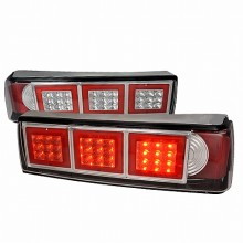 1987-1993 FORD MUSTANG LED TAIL LIGHTS (PAIR) CHROME (Spec-D Tuning)