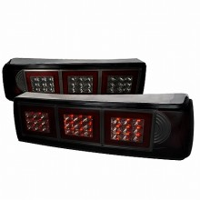 1987-1993 FORD MUSTANG LED TAIL LIGHTS (PAIR) SMOKE (Spec-D Tuning)