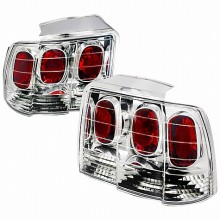 1999-2004 FORD MUSTANG ALTEZZA TAIL LIGHTS (PAIR) CHROME (Spec-D Tuning)