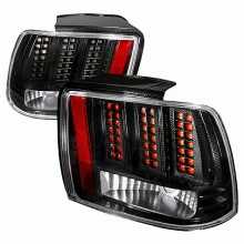 1999-2004 FORD MUSTANG LED TAIL LIGHTS (PAIR) CHROME (Spec-D Tuning)