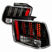 1999-2004 FORD MUSTANG LED TAIL LIGHTS (PAIR) BLACK (Spec-D Tuning)