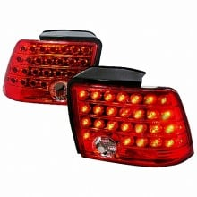 1999-2004 FORD MUSTANG LED TAIL LIGHTS (PAIR) RED (Spec-D Tuning)